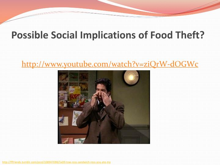 Possible Social Implications of Food Theft?