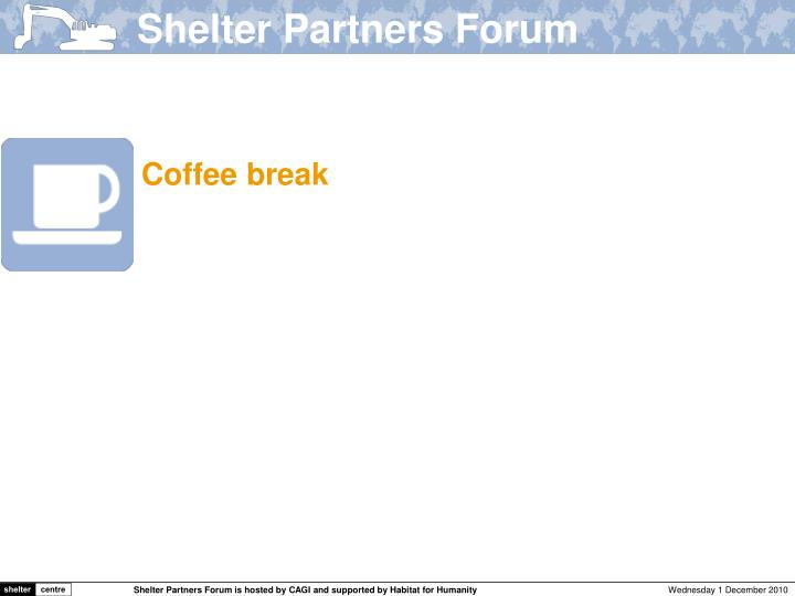 Shelter Partners Forum