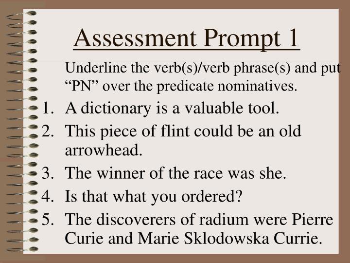 Assessment Prompt 1