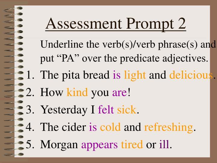Assessment Prompt 2