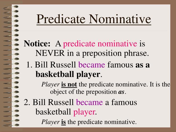 Predicate Nominative
