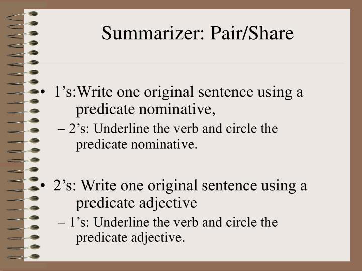 Summarizer: Pair/Share