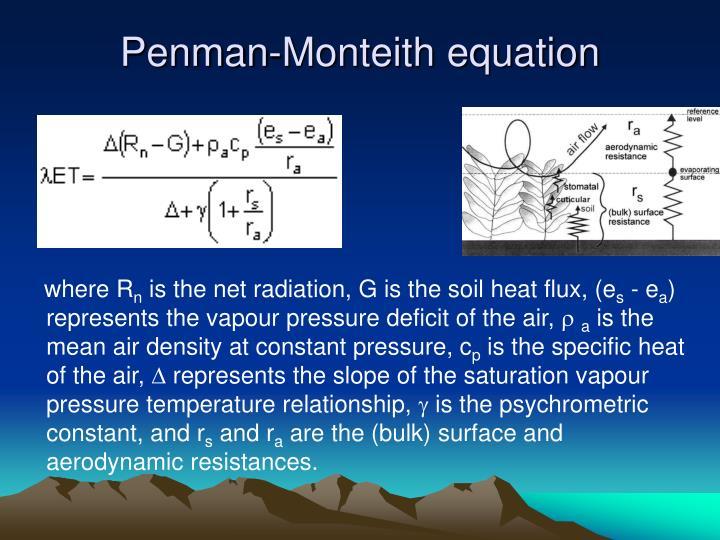 Penman-Monteith equation