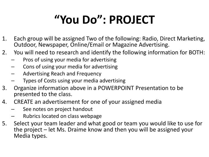 """""""You Do"""": PROJECT"""