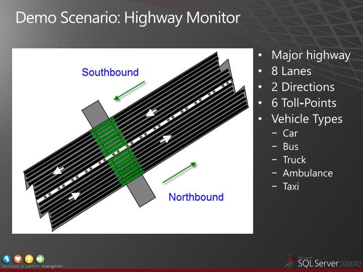 Demo Scenario: Highway Monitor