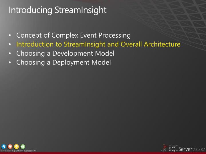 Introducing StreamInsight