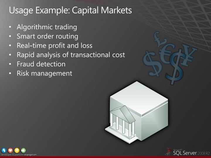 Usage Example: Capital Markets