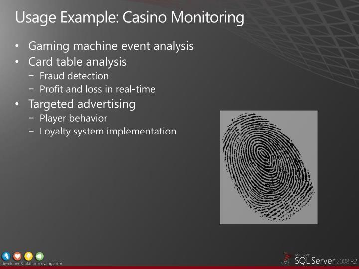 Usage Example: Casino Monitoring