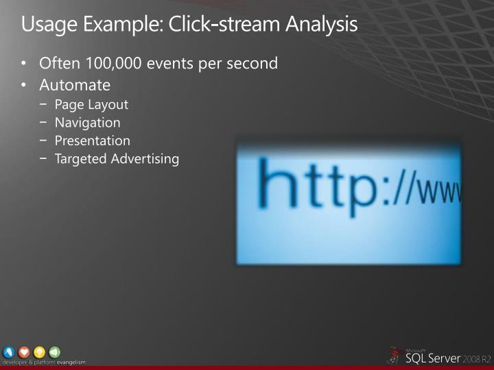 Usage Example: Click-stream Analysis