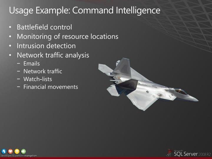 Usage Example: Command Intelligence