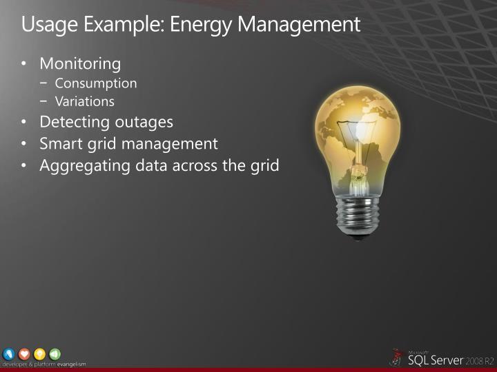 Usage Example: Energy Management