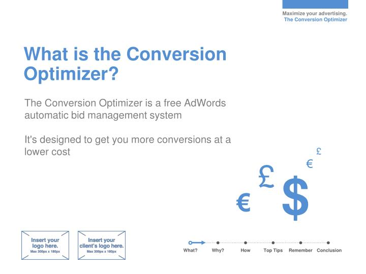What is the conversion optimizer