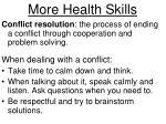 more health skills