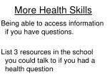 more health skills1