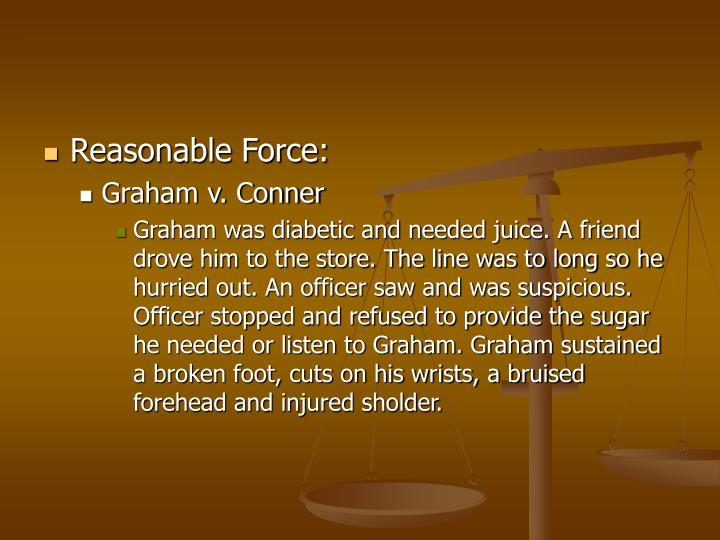 Reasonable Force: