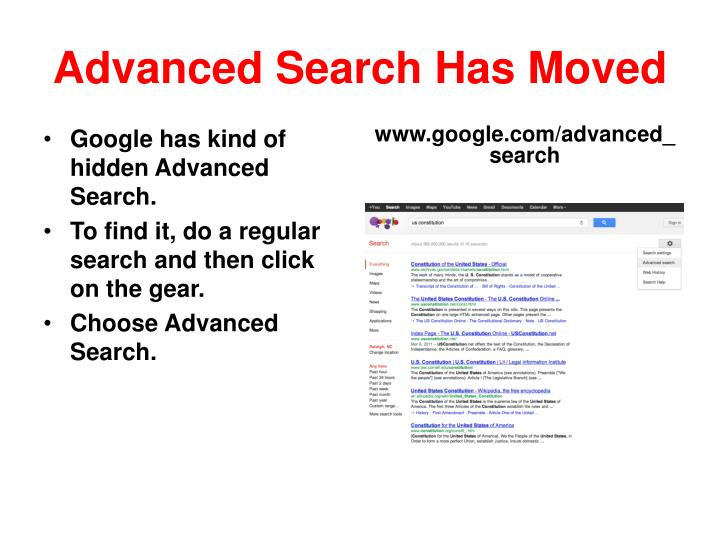 Advanced Search Has Moved