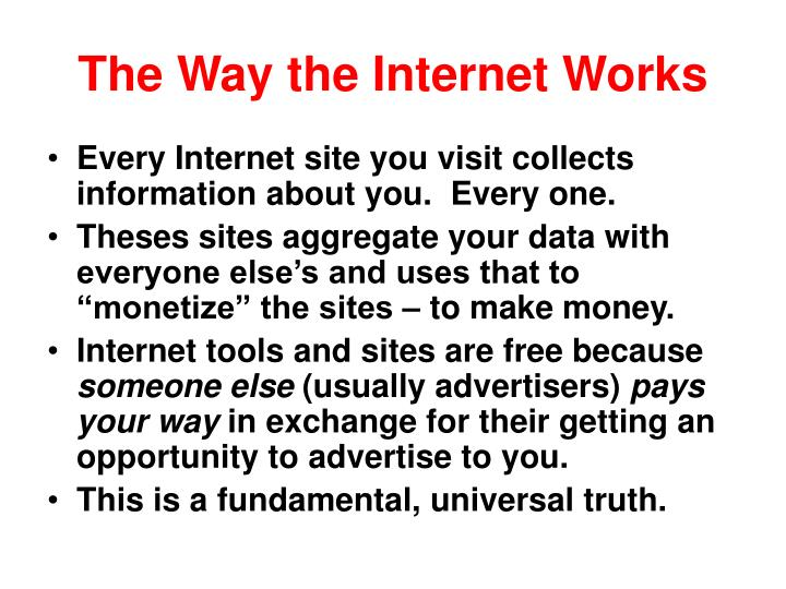 The Way the Internet Works