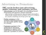advertising vs promotions