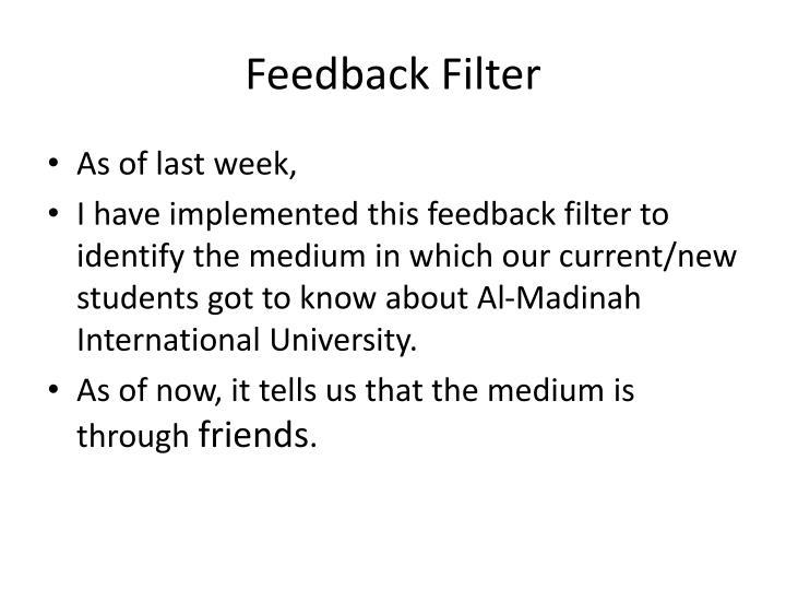 Feedback Filter