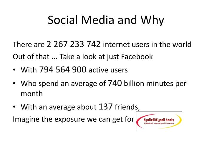 Social media and why