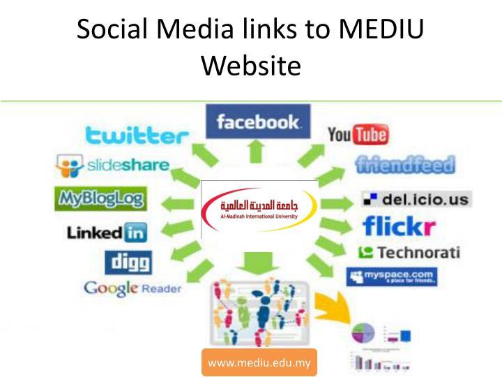 Social Media links to MEDIU Website