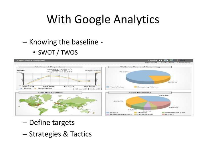 With Google Analytics