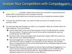 analyze your competition with compete com