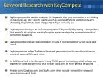 keyword research with keycompete