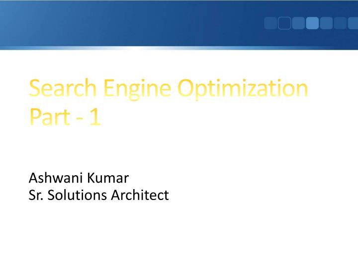search engine optimization part 1