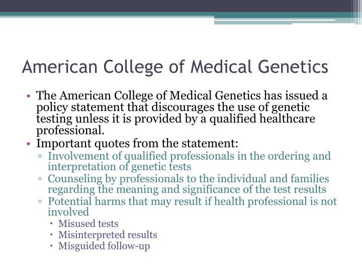 American College of Medical Genetics