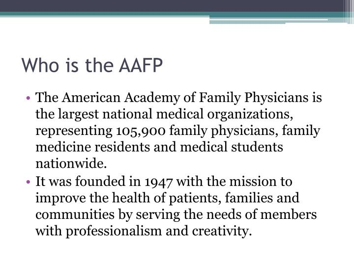 Who is the aafp