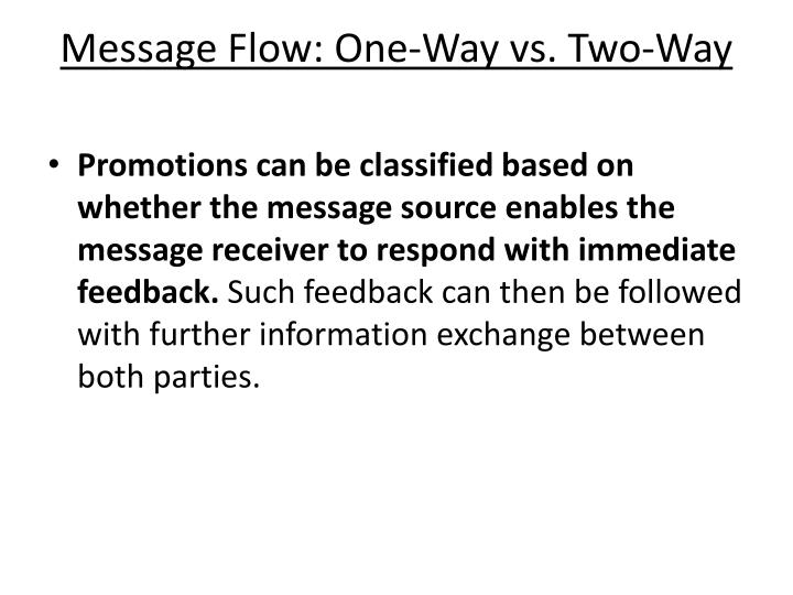 Message Flow: One-Way vs. Two-Way