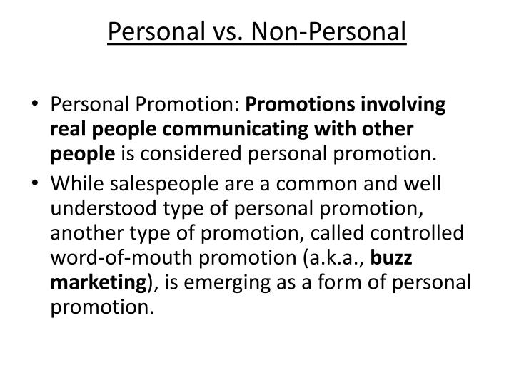 Personal vs. Non-Personal