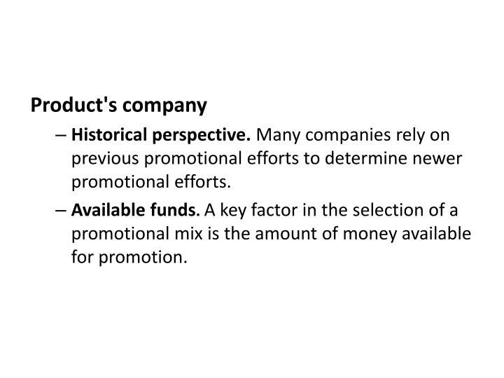 Product's company