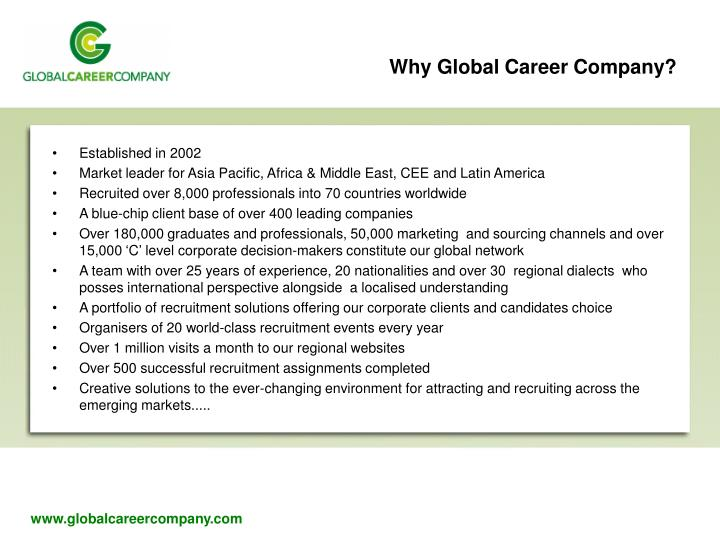 Why global career company