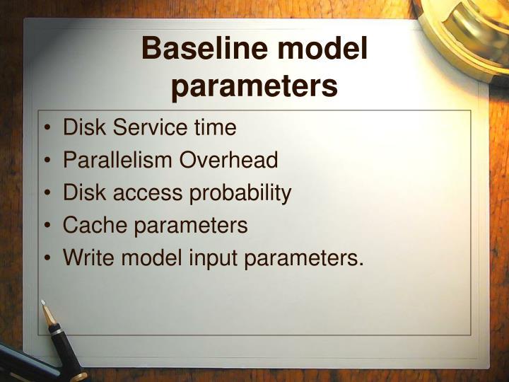 Baseline model parameters
