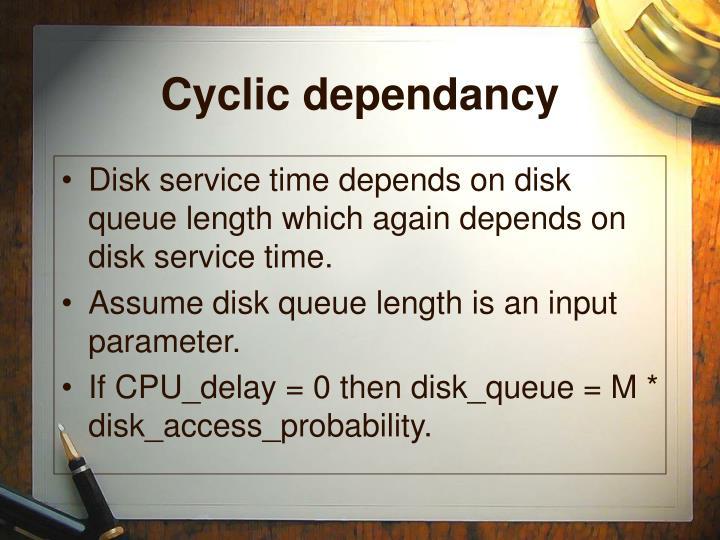 Cyclic dependancy