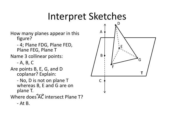 Interpret Sketches