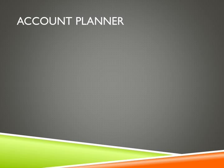 ACCOUNT PLANNER