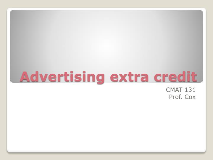 Advertising extra credit