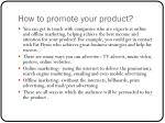 how to promote your product