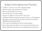 subject verb agreement practice1