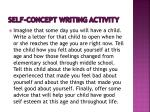 self concept writing activity