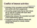 conflict of interest activities