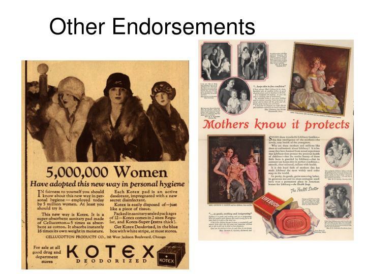 Other Endorsements