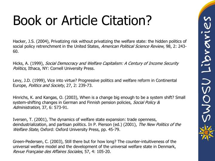 Book or Article Citation?