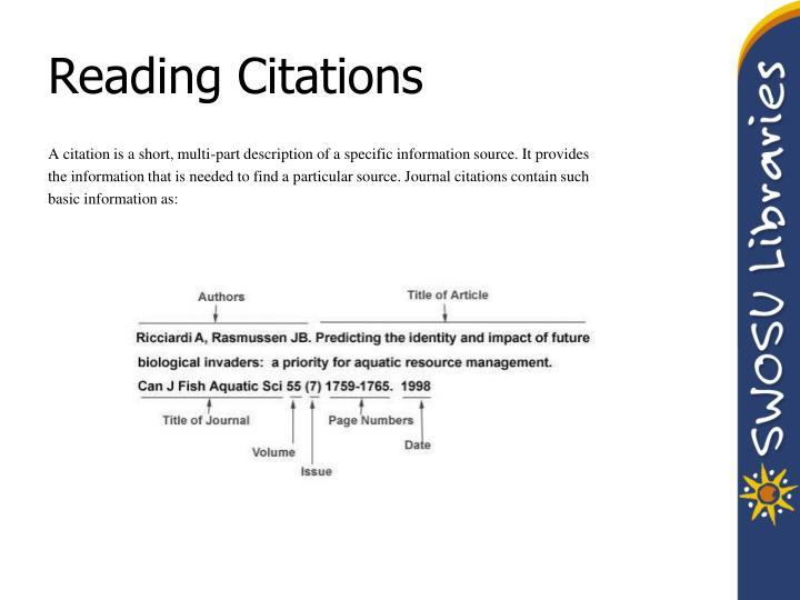 Reading Citations