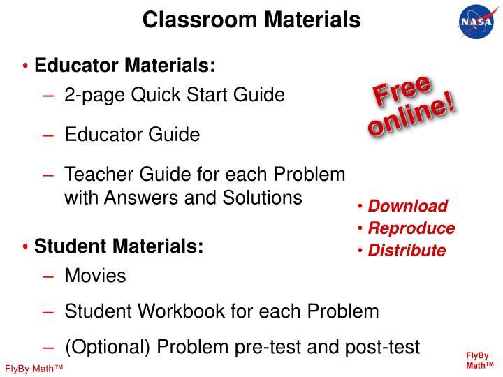 Classroom Materials