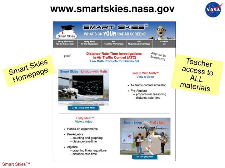www.smartskies.nasa.gov