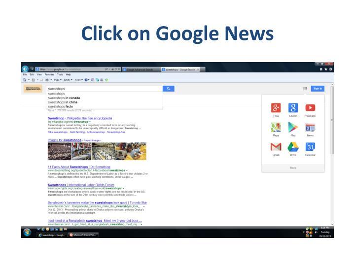Click on Google News